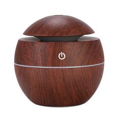 爆款蘑菇木纹超声波USB车载香薰加湿器      社区居民活动礼品