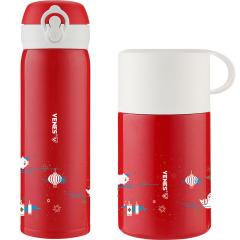 菲驰(VENES)轻量保温杯闷烧罐两件套施华洛家享套装 送给员工的小礼品