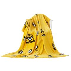 小黄人 法兰绒毯 夏季空调毯午睡毯  互联网公司生日礼物