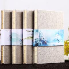 【四季系列】32K纯色布面笔记本 春夏秋冬特色景区记事本 办公纪念礼品