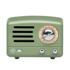 猫王收音机 Tesslor猫王小王子 复古绿迷你蓝牙音箱 手提箱便携式小音响 创意用品