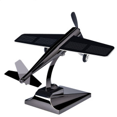 太陽能汽車車內飾品擺件飛機個性旋轉