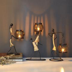 手工铁艺创意烛台 家居艺术摆件礼品定制 旅游公司小礼品