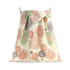 竹浆纤维柔软吸水印花浴巾 送员工实用小礼品