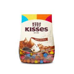 【京东伙伴计划—仅限积分兑换】好时之吻 Kisses 炫彩 多口味巧克力 糖果零食 年货 婚庆喜糖 散装 500g