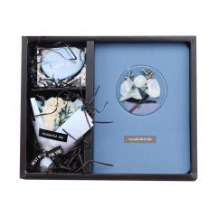 永生花花愿套装时尚礼物礼品 笔记本创意记事本礼盒套装礼品 创意礼品