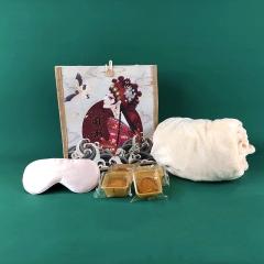 【盒礼搭】国潮风麻布袋中秋礼盒 麻布袋+毛毯+眼罩+月饼 中秋送什么礼品好