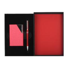 【亿脉】原创设计两件套礼盒 不锈钢名片夹+旋转签字笔 高端商务礼品