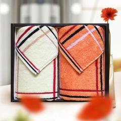 洁丽雅(Grace)简欧-2 全棉毛巾舒适吸水 2条装 商业促销品