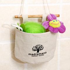 棉麻布艺悬挂式挂兜 收纳袋--大树 现场小礼品