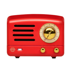 猫王收音机 Tesslor猫王小王子 嬉皮红迷你蓝牙音箱 手提箱便携式小音响 潮流礼品