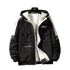 2020年新款春秋男式夹克 拼色英文图案 多口袋男装外套