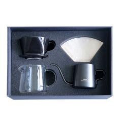 創意手沖咖啡禮盒四件套 咖啡套裝 員工入職紀念禮品