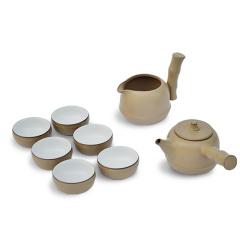 【竹节高升】湖畔居 竹黄釉茶具套装 一壶一海六杯组 茶具礼盒套装 送领导