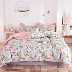 【复古甜心】全棉印花床上四件套 高支高密纯棉床上套件 1.5米/1.8米/2米