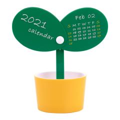 2021春暖花开萌芽桌面台历 小清新桌面小摆件 创意小礼品