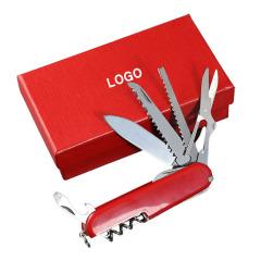 瑞士小军刀 11开碳钢多功能户外工具刀 展会礼品有哪些