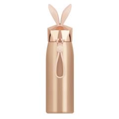 卡通水晶兔保溫杯學生簡便304不銹鋼水杯300ML 促銷禮品