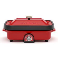 韩国现代(HYUNDAI)不粘锅涂层多功能料理锅 4档控温档位设计烤盘煮锅 比赛活动奖品