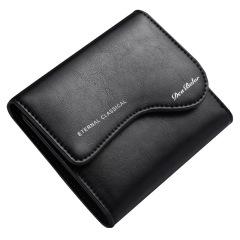 男士钱包欧美复古短款男钱夹马皮拉链皮夹   纪念品送什么好