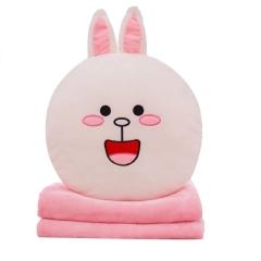 【可妮兔】卡通抱枕毯珊瑚绒 柔软面料多种用途 顺滑无静电 创意定制礼品