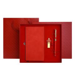 中国结A6笔记本商务礼盒 记事本U盘签字笔书签礼盒套装 公司周年庆礼品定制