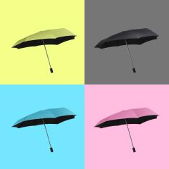 RealBrella不会淋湿肩膀的雨伞 防晒防紫外线三折伞 原创专利雨伞设计定制