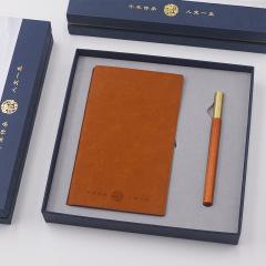 古风经典红木文创礼品套装 旅行笔记本行+实木笔礼盒 中秋送客户礼品创意