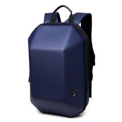 立体几何背包ozuko原创定型双肩包男创意个性电脑背包休闲时尚旅行包 出差商务双肩包