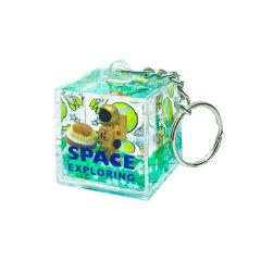 太空人绳液体流沙钥匙扣 创意便携 宣传小礼品