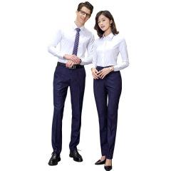 春秋季男女同款正装长袖衬衫 修身商务职业装 可定制公司logo