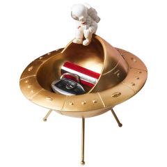 太空人与宇宙飞船创意收纳盒 桌面杂物收纳摆件 游戏活动礼品
