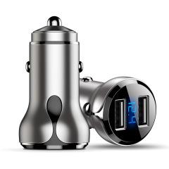 铝合金智能快速车载充电器双usb快充 车载礼品定制