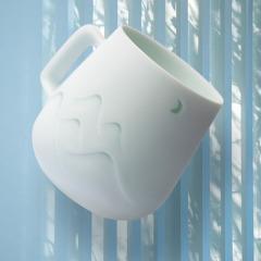 【你好歷史】山月玲瓏陶瓷馬克杯  簡約設計 答謝禮品