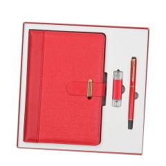 A5轻奢笔记本礼盒 笔记本+签字笔+U盘三件套商务礼盒 公司年会伴手礼