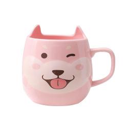 可爱柴犬陶瓷杯 卡通小狗大肚杯 马克杯早餐杯 校招创意礼品