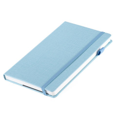 A5绑带记事本 仿布纹硬面 多功能收纳袋笔记本 可定制logo