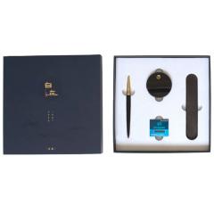 钢笔+底座+墨胆(6支)+皮套 自在·钢笔套装 高档商务礼品