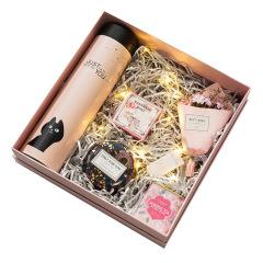 粉系蒂芙尼 手工精油皂+草莓紅茶+香薰蠟燭套裝 送客戶禮物送什么好