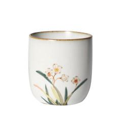 【苏州博物馆】四时有礼手绘高温陶品茗杯 典雅的实用礼品