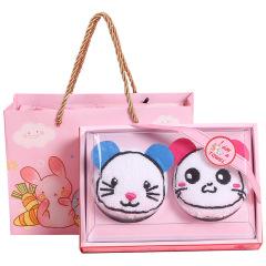 鼠年纯棉小方巾面巾 不一样的鼠年礼物 有创意的小礼品