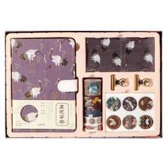 【堇色安年】中国风笔记本礼盒套装 高颜值文艺手账本 办公套装商务礼品