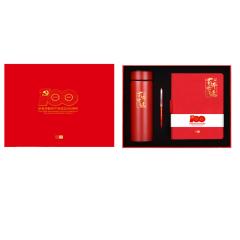 【百年华诞】豪华办公48开笔记本+红木签字笔礼盒 一般的纪念礼品有哪些
