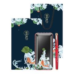【锦鲤系列礼盒】商务实用锦礼两件套 充电宝+中性笔 送商务礼盒的寓意