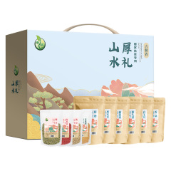 【山水厚礼-1190款】山水厚礼礼盒-扶贫款 玉米渣黄豆香菇猴头菇 公司活动送什么