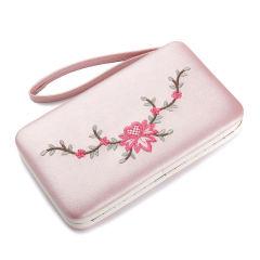 女包时尚定制复古刺绣手工长款女钱包手机包   活动送什么礼品吸引人