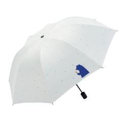 卡通熊黑胶防紫外线太阳伞折叠雨伞 20元礼品建议