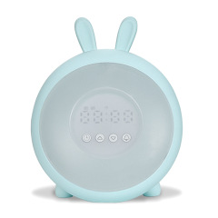 USB甜夢時光兔小夜燈喚醒夜燈鬧鐘貪睡七彩氛圍燈 單位比賽獎品買什么好