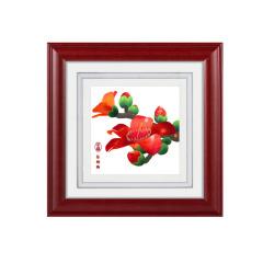【廣繡紅棉】手工絲綢刺繡 桌面擺件 商務禮品
