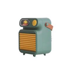 潮萌桌面迷你小风扇usb小夜灯冷风机 加湿补水冰雾制冷加湿器 夏季的礼品
